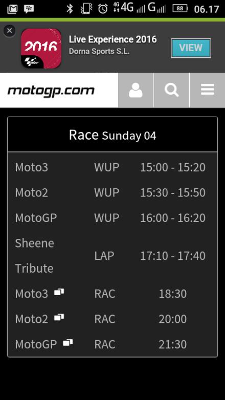Jadwal MotoGP seri 12