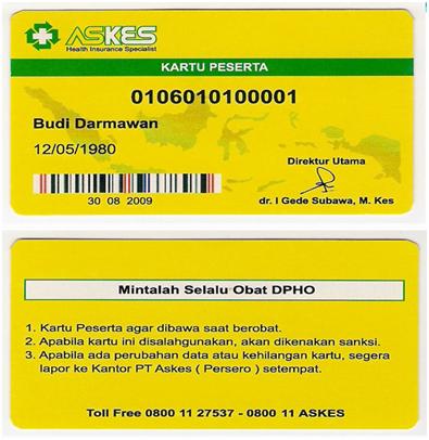 Contoh kartu Askes - www.archieve.jamsosindonesia.com