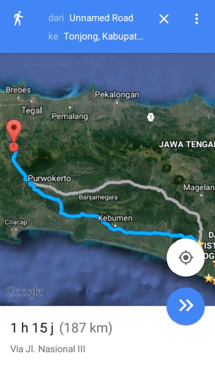 Jarak Nanggulan - Tonjong  Brebes