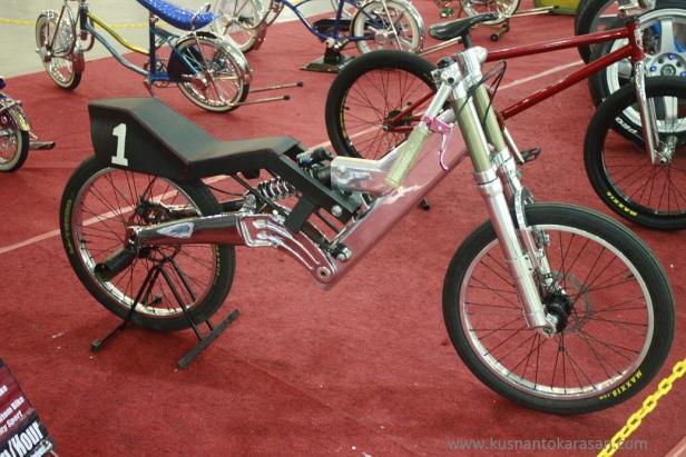 Sepeda non pedals ini mampu mencapai kecepatan 125km/jam