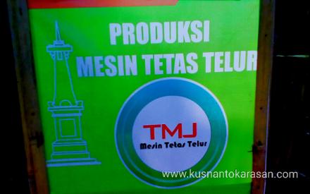 Produksi mesin penetas telur ada di dusun Bondalem Sumbermulyo Bambang Lipuro Bantul