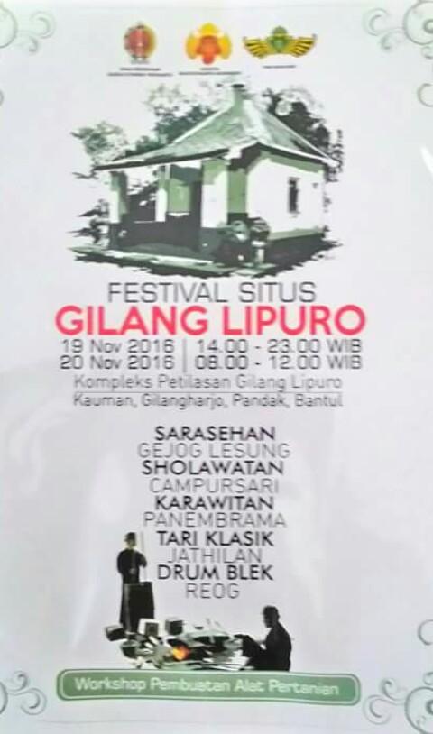 Festival Situs Gilanglipuro Pandak Bantul