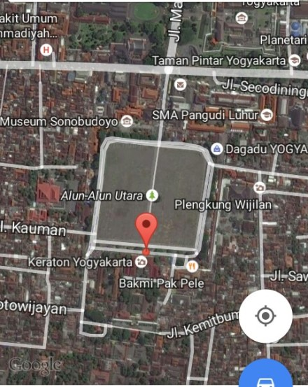 Sreenshot alun-alun utara Yogyakarta