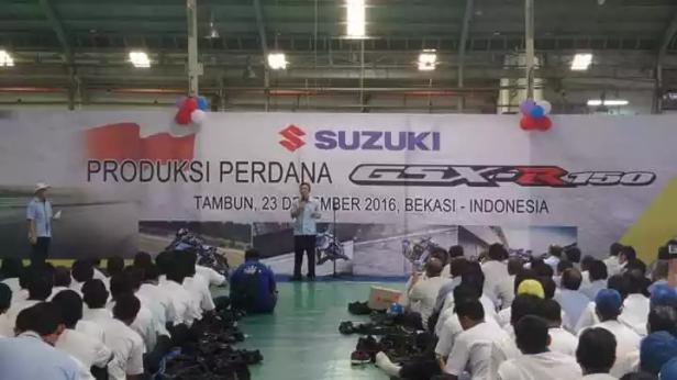 Peresmian produksi perdana Suzuki GSX-R 150