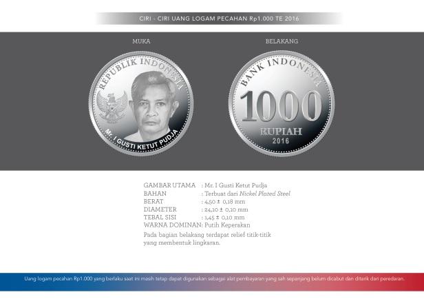 Ciri-ciri uang 1000 rupiah