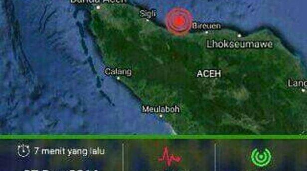Gempa Aceh Rabu, 07 Desember 2016