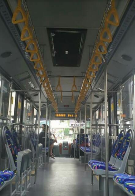 Sisi dalam bus integrasi Jogja
