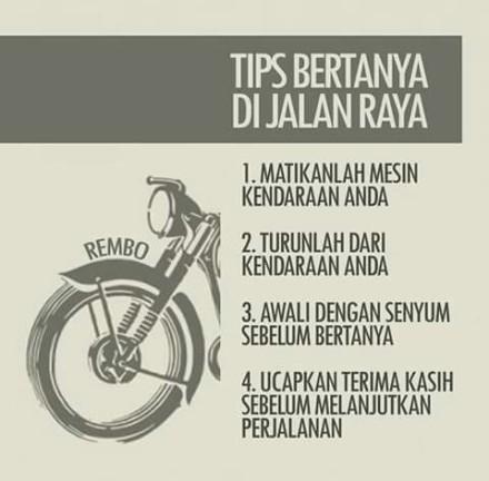 Tips Bertanya Di jalan