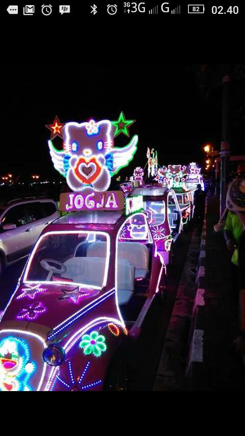 Mobil kayuh di alun-alun kidul Yogyakarta