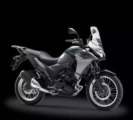 Kawasaki Versys-X 250 City warna putih-silver abu-abu/grey