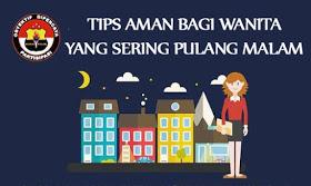Tips aman bagi wanita yang sering pulang malam