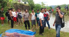 Evakuasi korban tenggelam di Salakan Trukan Segoroyoso Pleret Bantul