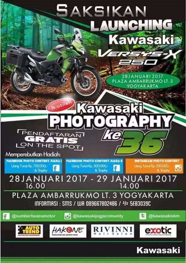 Launching Kawasaki Versys X 250 di Yogyakarta