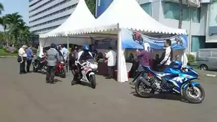 Test ride interna suzuki GSX-R 150 di hotel Jakarta