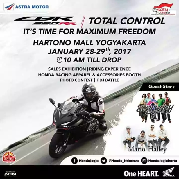 Sales Exhibition All New Honda CBR 250 RR YOGYAKARTA