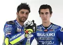 Pembalap team Suzuki Ecstar : Andrea Iannone dan Alex Rins