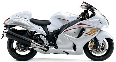 Suzuki Hayabusa warns putih