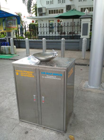 Air siap minum di kawasan Pedestrian Malioboro