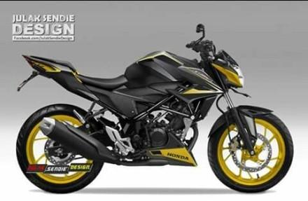 """Salah satu hasil karya dari Julak Sendie Grafis dalam """"Design custom Honda CB 150 SF"""""""