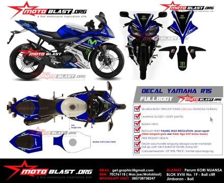 Sebuah sketsa decal untuk motor Yamaha R15 hasil dari motoblast.org