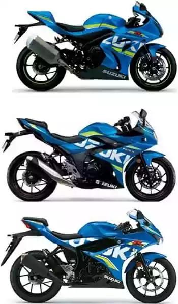 Perbandingan Suzuki GSX-R 150, 250 & 1000