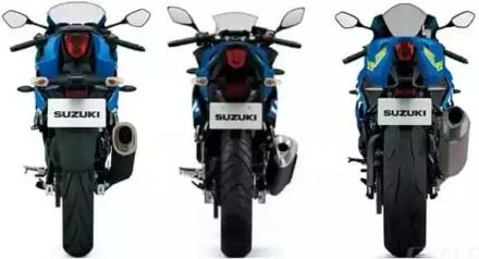Tampak belakang Suzuki GSX-R 150, 250 & 1000