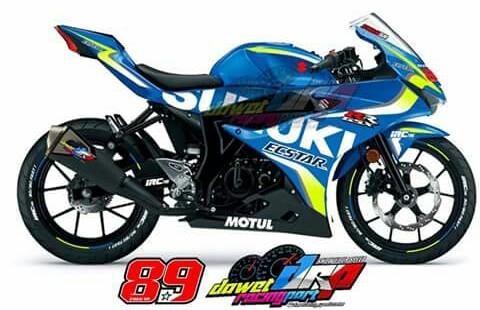 Decal Suzuki GSX-R 150 livery Suzuki MotoGP 2017