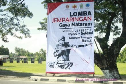 Baliho lomba jemparingan gaya Mataraman