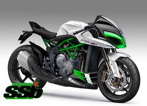 Kawasaki H2F 2018 warna putih
