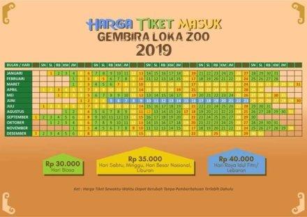 Update Harga Tiket Masuk Gembira Loka Zoo 2019 Kusnantokarasan Com